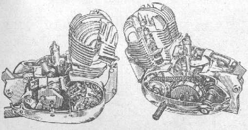 Силовой агрегат мотоцикла ЯВА-