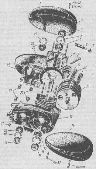 """вал 12 двигателя """"Ява-350"""""""