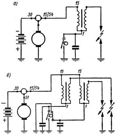 Электрические схемы систем
